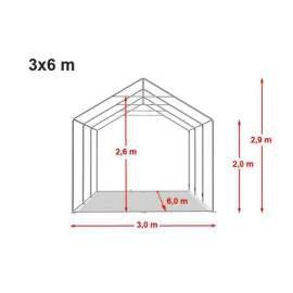 3m széles BIGTENT EXTRA PE300 rendezvény sátor,több méret FEHÉR