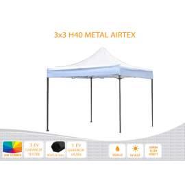 3x3 Metal H40 AIRTEX tetővel,nyitható pavilon