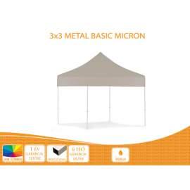 Bigtent 3x3 Metal BASIC nyitható pavilon,MIKRON tetővel
