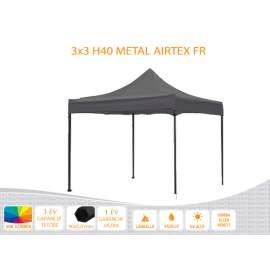 3x3 Metal H40 AIRTEX lángálló tetővel nyitható pavilon