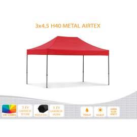 3x4,5 Metal H40 AIRTEX tetővel,nyitható pavilon több színben