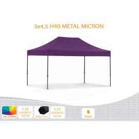 3x4,5 Metal H40 nyitható pavilon, MIKRON tetővel