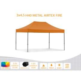 3x4,5 Metal H40 AIRTEX lángálló tetővel nyitható pavilon