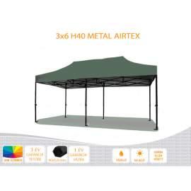 3x6 Metal H40 AIRTEX tetővel,nyitható pavilon