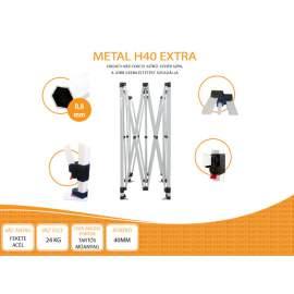 3x6 Metal H40 nyitható pavilon, MIKRON