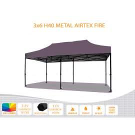 3x6 Metal H40 AIRTEX lángálló tetővel nyitható pavilon