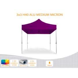 Bigtent 3x3 ALU H40 nyitható pavilon, MIKRON tetővel