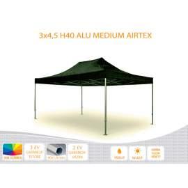 Bigtent 3x4,5  ALU H40 AIRTEX tetővel,nyitható pavilon