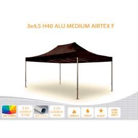 Bigtent 3x4,5 ALU H40 AIRTEX lángálló tetővel nyitható pavilon