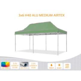 3x6 ALU H40 AIRTEX tetővel,nyitható pavilon