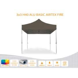 3x3 ALU Basic H40 AIRTEX lángálló tetővel nyitható pavilon