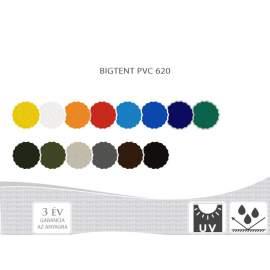 6m Bigtent fényes PVC620 pavilon oldalfal teli