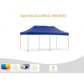 3x6 ALU H40 B nyitható pavilon, MIKRON tetővel