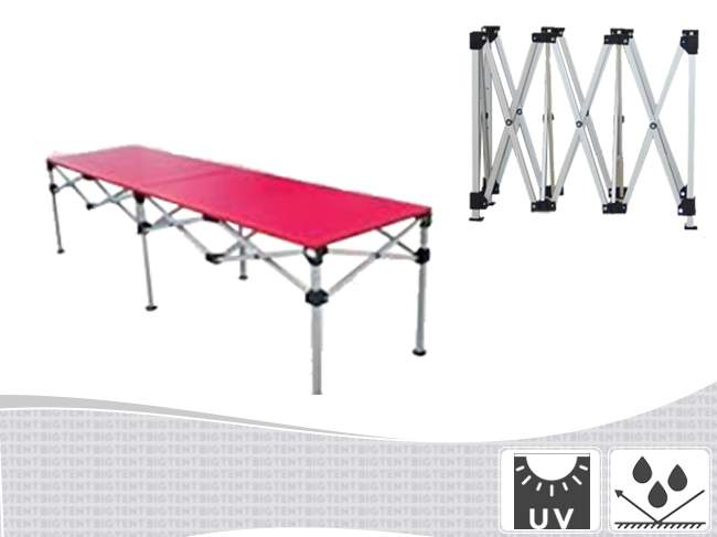 Nyitható alu asztal ( puska ) több méretben