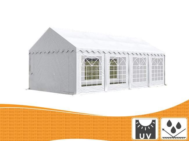 3m széles BIGTENT PVC STAND rendezvény sátor, több méretben Fehér