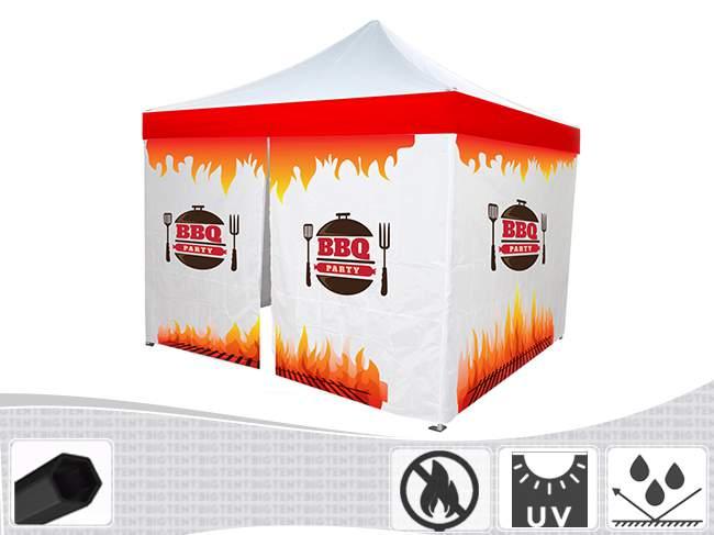 Bigtent Design Fire pavilon 3x3 H40 lángálló pvc
