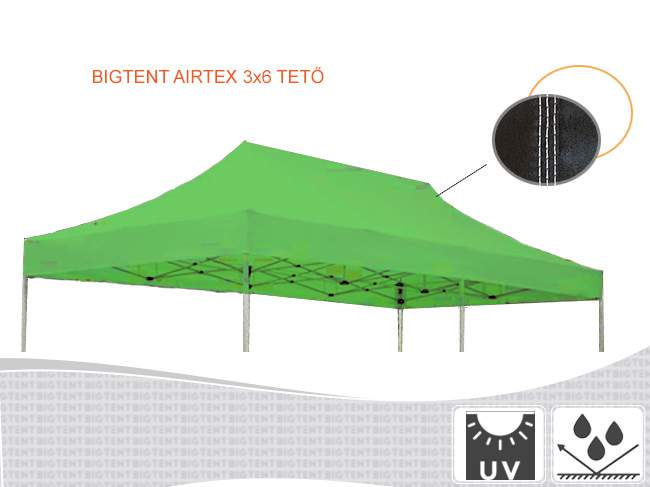 3x6 pavilon tető airtex200 ponyva gyártás