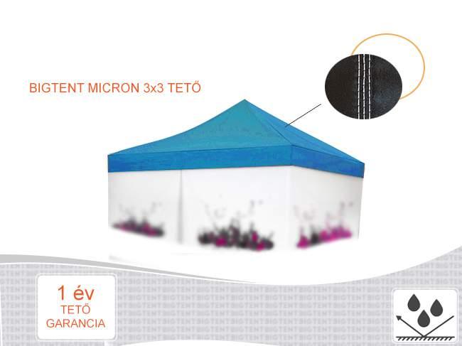 3x3 pavilon tető micron ponyva gyártás