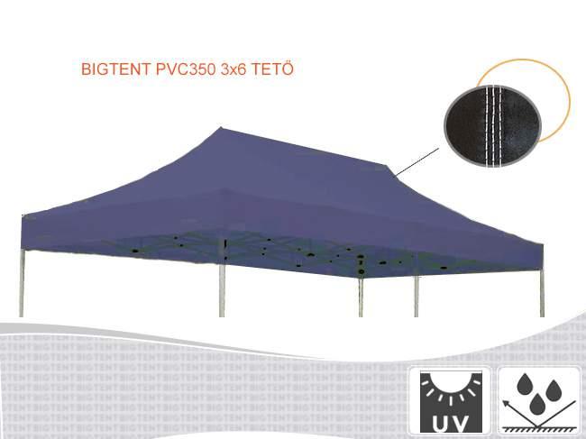 3x6 kerti pavilon tető pvc 350