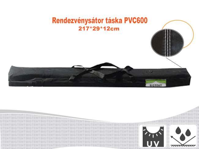 Erős rendezvénysátor táska 217x29x12cm PVC600