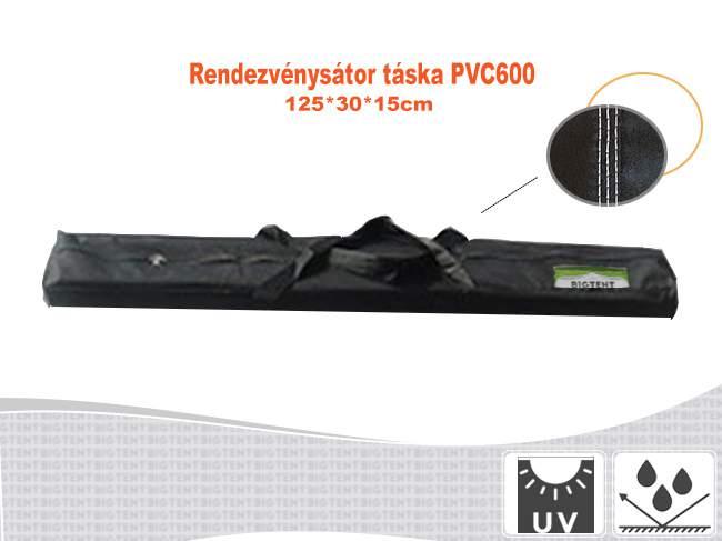 Erős rendezvénysátor táska 125x30x15cm PVC600